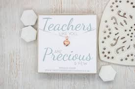 teachers like you are precious few rose gold puffed heart necklace