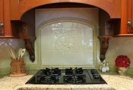 kitchen ideas old style kitchen design with brown wood range hood and cream marble countertop