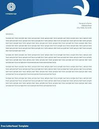 Free Company Letterhead Template Download Pdf
