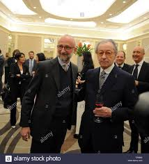 Milan, Award and journalism in the photo VITTORIO FELTRI and the winner of  the Award is journalism, his son MATTIA FELTRI Stock Photo - Alamy