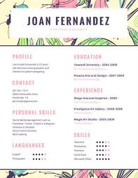 english resumes customize 100 colorful resume templates online canva