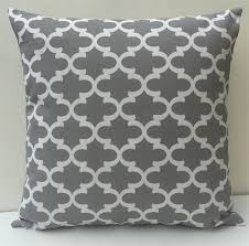 Grey Moroccan Geometric Outdoor Cushion Cover