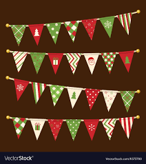 Designer Bunting Triangle Bunting Flags Christmas Garland Set