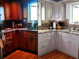 image of before after chalk paint kitchen cabinets
