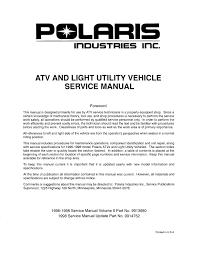 Polaris Vin Chart 1997 Polaris Sportsman 4x4 400l Service Repair Manual By