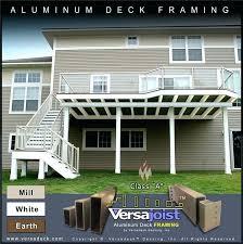 aluminum deck framing aluminum deck framing joists beams posts and stairs aluminum boat deck framing