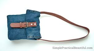 Make Pants Make A Jean Purse From An Old Pair Of Jeans Pants Simple