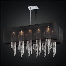 double rectangular shade chandelier spiral crystal chandelier ocean wave 617em44 24sp b 7c