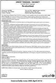 Hiv Aids Pmtct Specialist Ideas Collection Cover Letter For Unicef