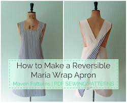 Japanese Apron Pattern Awesome The Maria Wrap Apron Reversible Tutorial Apparel Sewing