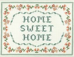 Small Picture Floral home sweet home cross stitch sampler