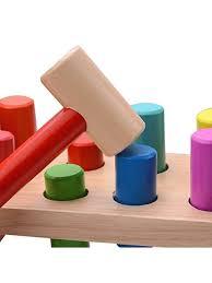 seafar wooden hammer peg pounding toy bench tap hammer game for children