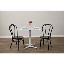 odessa solid black metal dining chair set of 2