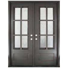 glass double front doors. Wonderful Double 62 In X 815 Craftsman Classic 12 Lite Painted Oil Rubbed Bronze Clear On Glass Double Front Doors R