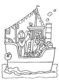 Kleurplaat Jip En Janneke Lampion Malvorlage Sankt Nikolaus Auf Boot