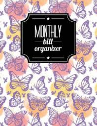 monthly bill organizer notebook monthly bill organizer butterfly design weekly expense tracker bill