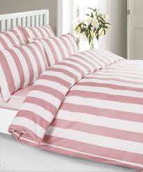 louisiana stripe duvet cover set 100 cotton 200 thread count pink white