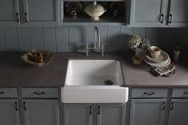 kohler k 6487 47 whitehaven self t a front single basin kitchen sink with tall a almond single bowl sinks com
