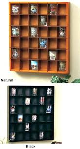 shot glass display shelf shelves for collectibles collectors bar case cabinet
