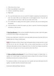10 Steps To Write A Basic Research Paper