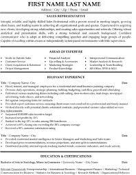 Resume Example Sales Representative Resume Templates Resume Cover