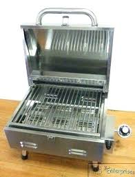 outdoor gourmet classic gas charcoal grill and smoker box view