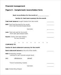 bank reconciliation form blank bank reconciliation template bank reconciliation template
