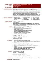 Engineering Resume Template 12 Civil Engineer Cv Example