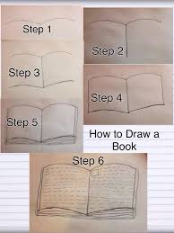how to draw can open book page turning google search