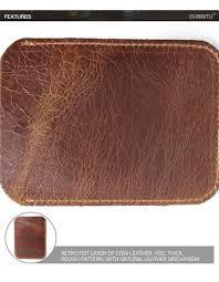 gubintu 421 ultra thin leather wallet card holder coin purse