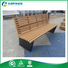 wrought iron and wood patio benches
