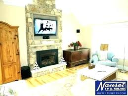 where to put cable box for wall mounted tv mounted over fireplace mounted over fireplace ideas
