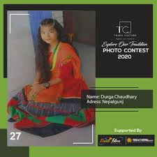 Contestant No. 27 Name: Durga Chaudhary... - T h a r u c u l t u r e |  Facebook