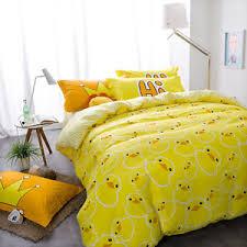 linen duvet cover queen. Image Is Loading Queen-Size-Yellow-Duck-Bed-Linen-Duvet-Cover- Linen Duvet Cover Queen D