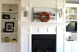 ... Delightful Home Interior Decoration Using Various White Mantel Shelf  Design : Foxy Image Of Home Interior ...
