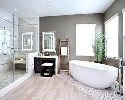 wood tile flooring in bathroom.  Wood Dark Wood Tile Floor Tiles Bathroom Inspiration For A Contemporary  Master Pebble And Throughout Wood Tile Flooring In Bathroom S