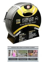 forever steel hose 50 ft metal garden flexible stainless light water hose on tv