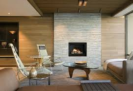 stacked stone fireplace with wood mantle living room contemporary with modern side chairs modern fireplace los
