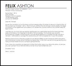 business contract termination letter sample letter of contract cancellation