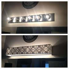 bathroom light covers custom lamp shades fabric throughout diy vanity cover prepare 3