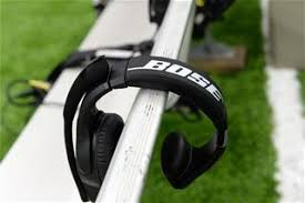 bose nfl headset. bose headphones rest of the bench before an nfl football game between houston texans and detroit lions, sunday, october, 30, 2016, in houston. nfl headset