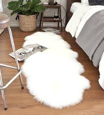 small sheepskin rug double white ivory lambskin with long merino 2 sheepskin rugs
