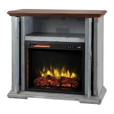 home decorators collection hamilton 38 in infrared pocket mantel electric fireplace tv stand in aged