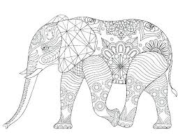 Elephant Coloring Pages Free For Adults Online Printable Cartoon At