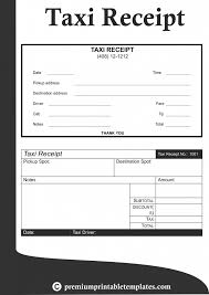 Receipt Template Doc Taxieipt Template Excel Word Format Malaysia Usa Taxi