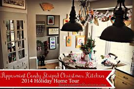 Christmas Kitchen Serendipity Refined Blog Candy Cane Stripe Christmas Kitchen