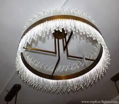 replica led 80 cm ring gold pendant baroncelli style