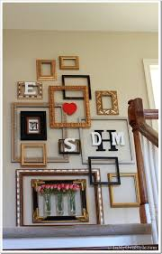 empty picture frame gallery wall