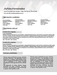 60 Formatos De Curriculum Vitae En Word Para Descargar Y