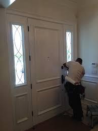 front door glass window installation